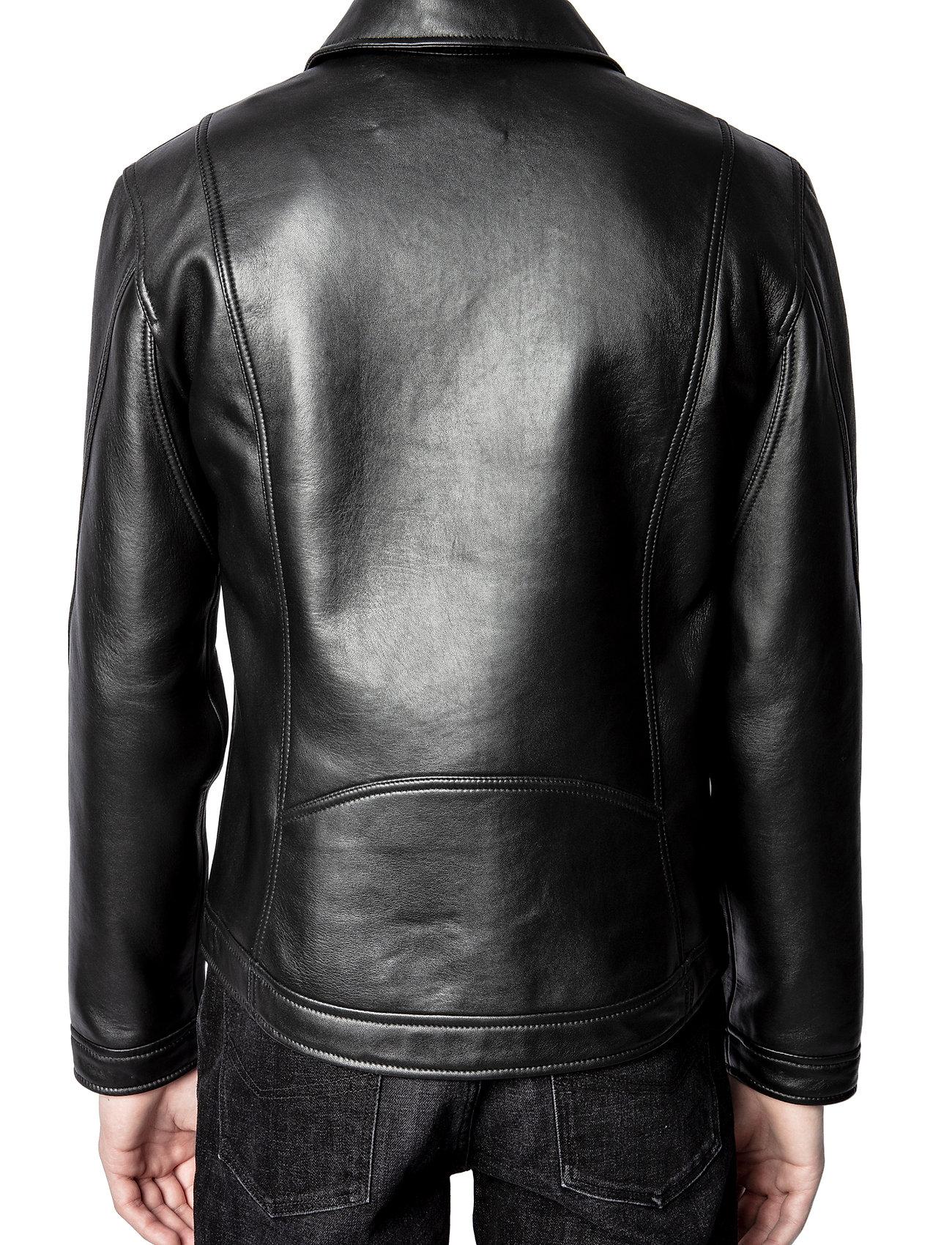 Zadig & Voltaire - LUK BONDED LEATHER JACKET - læderjakker - black - 5