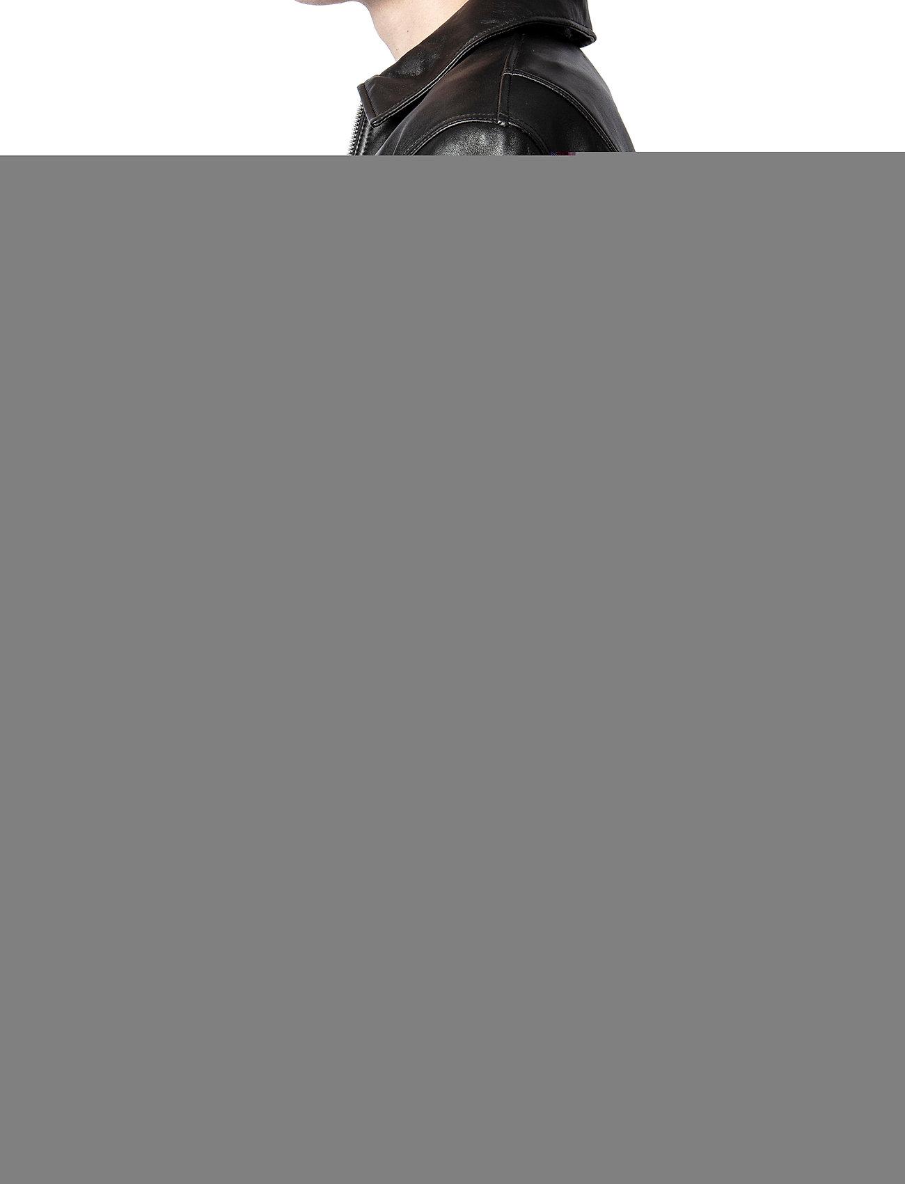 Zadig & Voltaire - LUK BONDED LEATHER JACKET - læderjakker - black - 6