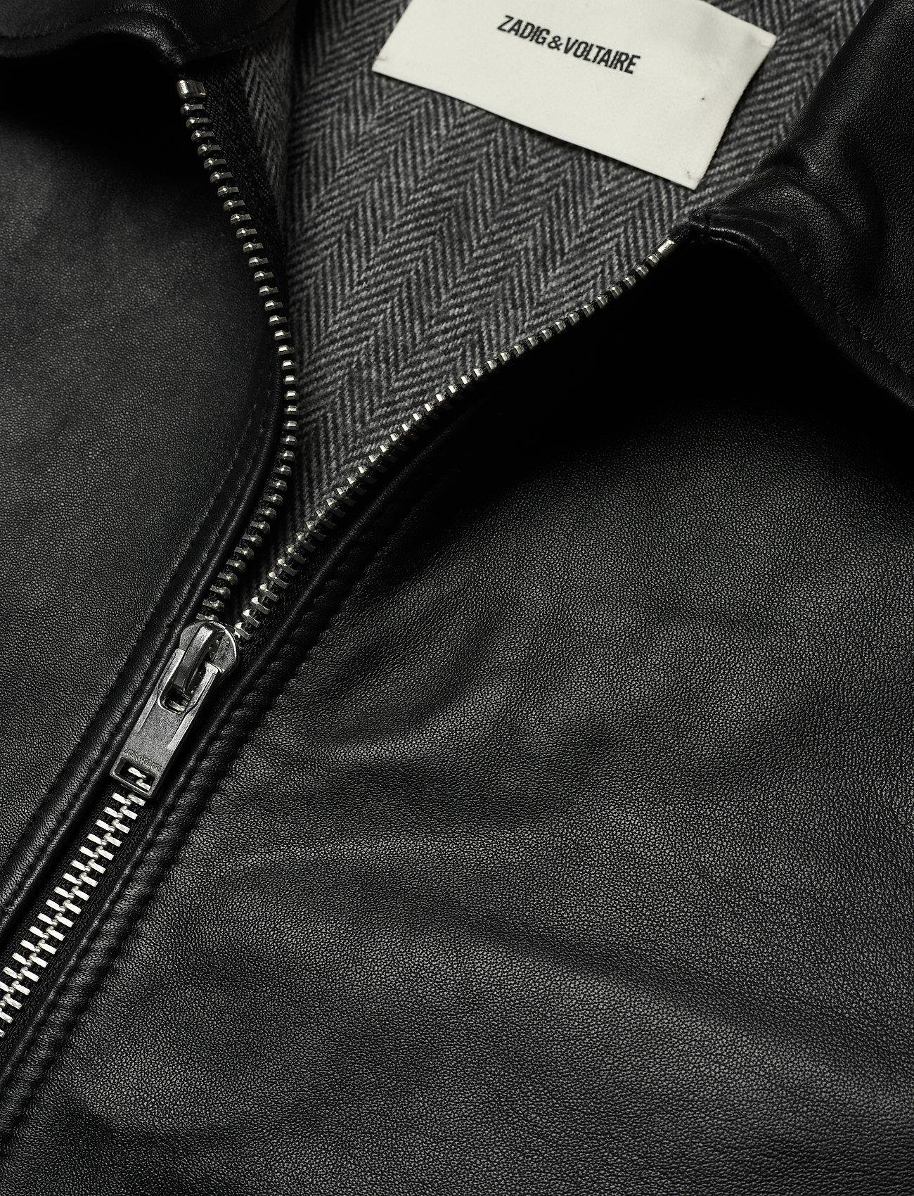 Zadig & Voltaire - LUK BONDED LEATHER JACKET - læderjakker - black - 3