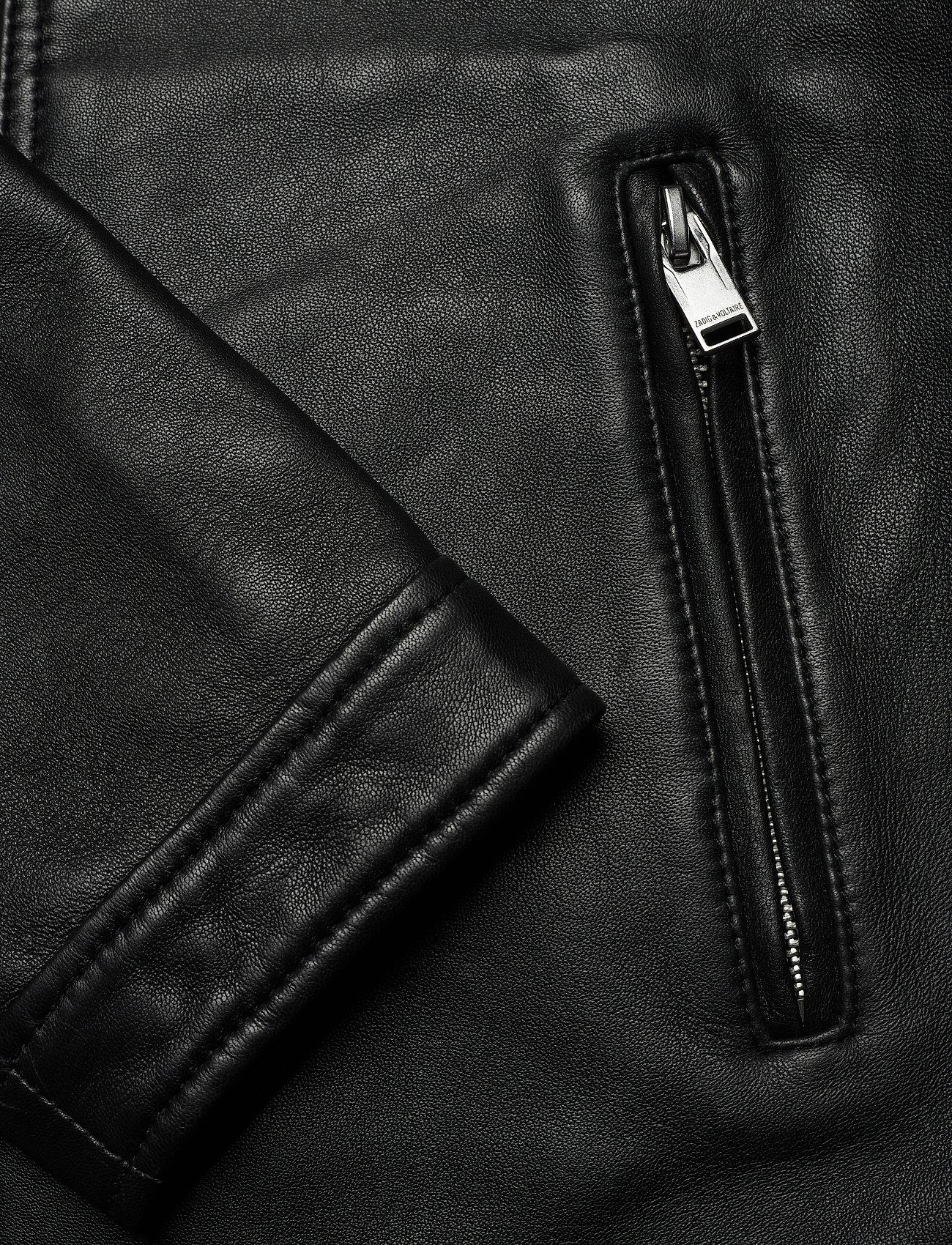 Zadig & Voltaire - LUK BONDED LEATHER JACKET - læderjakker - black - 4