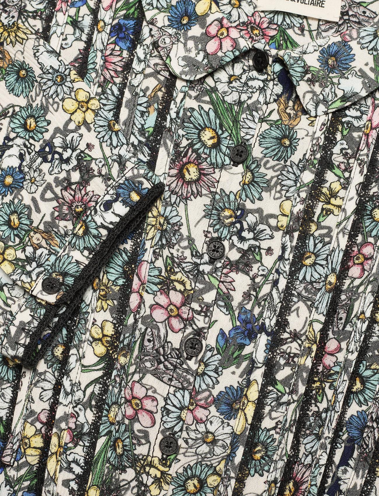 Zadig & Voltaire - RASPAIL CRINKLE FLOWER DRESS - sommerkjoler - judo - 2