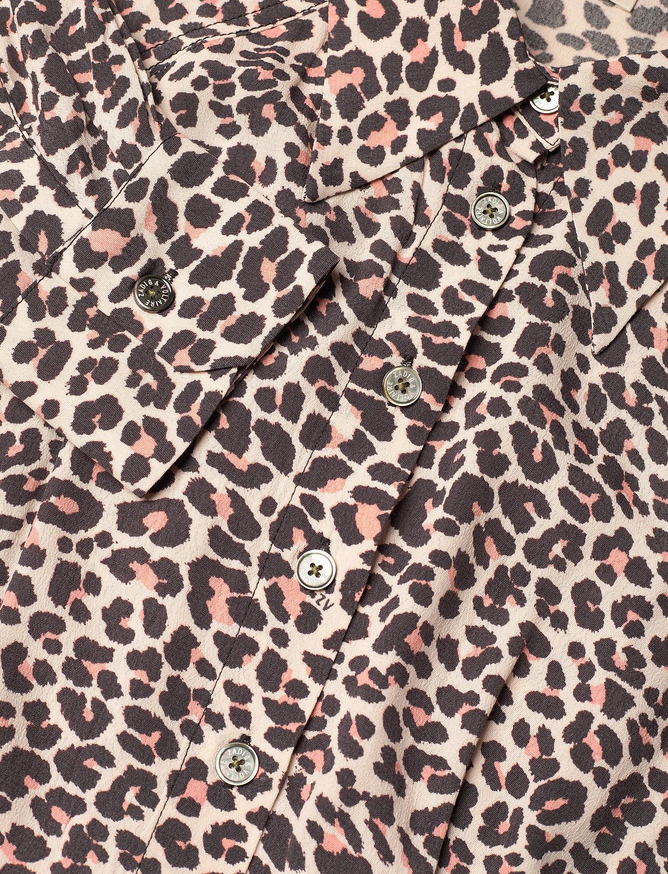 Zadig & Voltaire - REVO LEO GEO DRESS - skjortekjoler - coral - 3