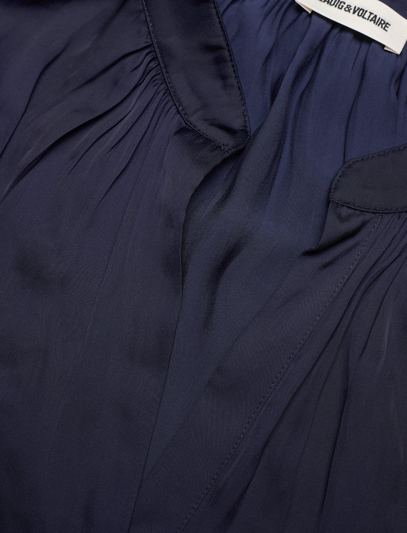 Zadig & Voltaire - RINKA SATIN DRESS - hverdagskjoler - ink - 3