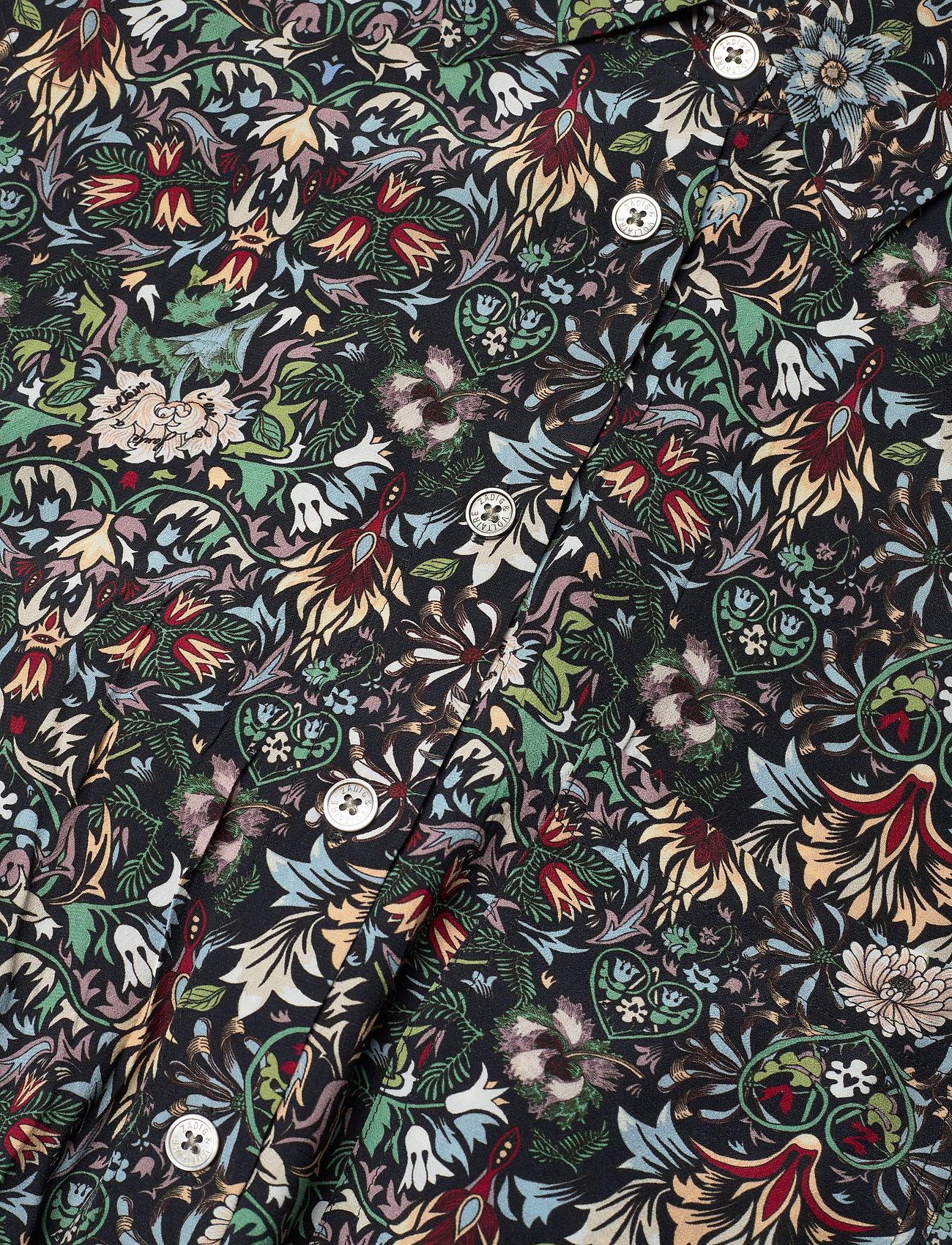 Zadig & Voltaire - RADIAL KALEIDO DRESS - skjortekjoler - black - 4