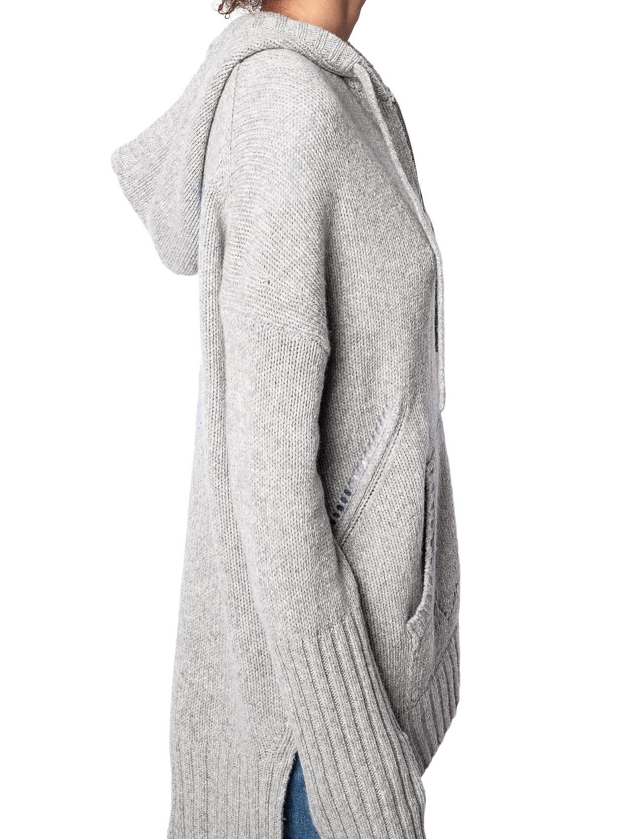 Zadig & Voltaire - TT VA BIEN SALMA MW ET ALORS - cardigans - melange grey - 4