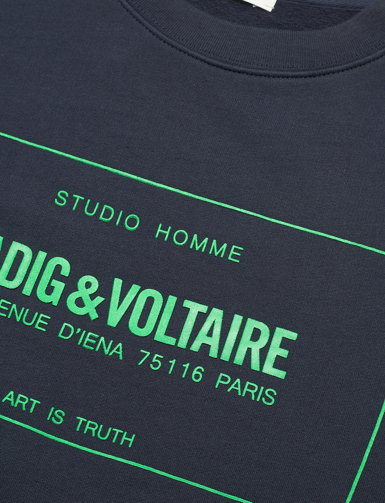 Zadig & Voltaire - SIMBA MO NEW BLASON SWEATSHIRT PRINT CHEST - tøj - ink - 2