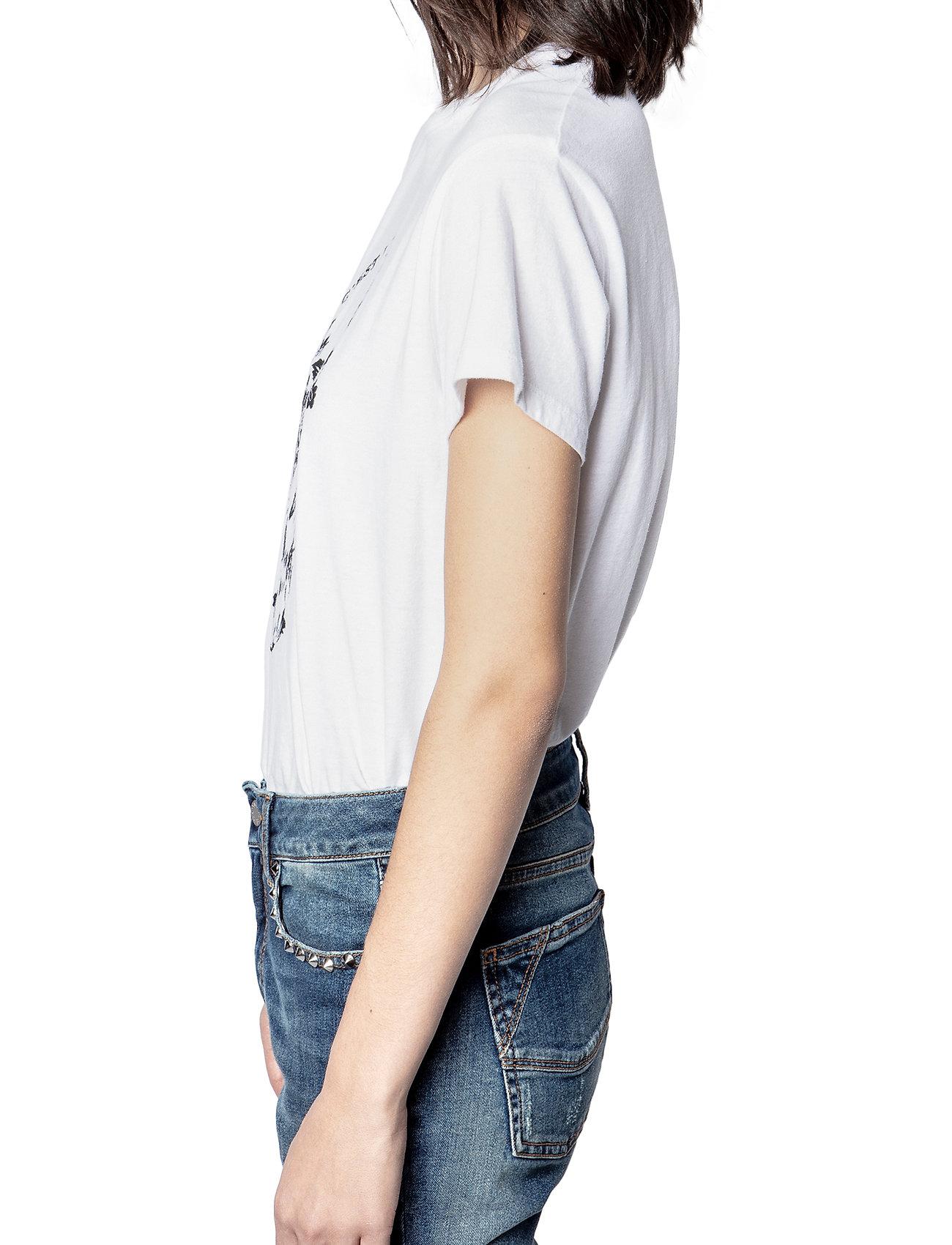 Zadig & Voltaire - ZOE SKULL VOLTAIRE COTTON T-SHIRT PRINT/ EMBROIDER - t-shirts - white - 5