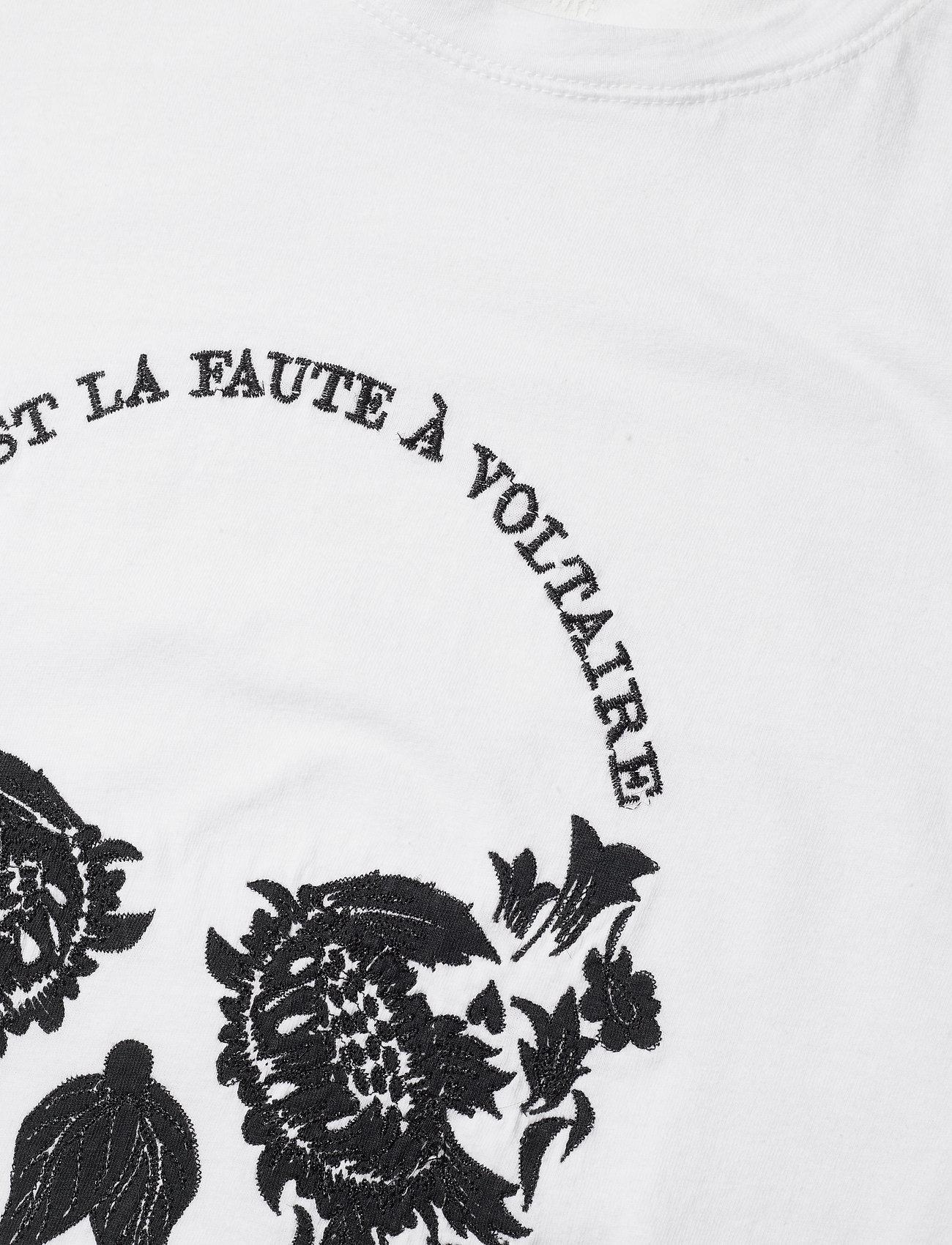Zadig & Voltaire - ZOE SKULL VOLTAIRE COTTON T-SHIRT PRINT/ EMBROIDER - t-shirts - white - 3