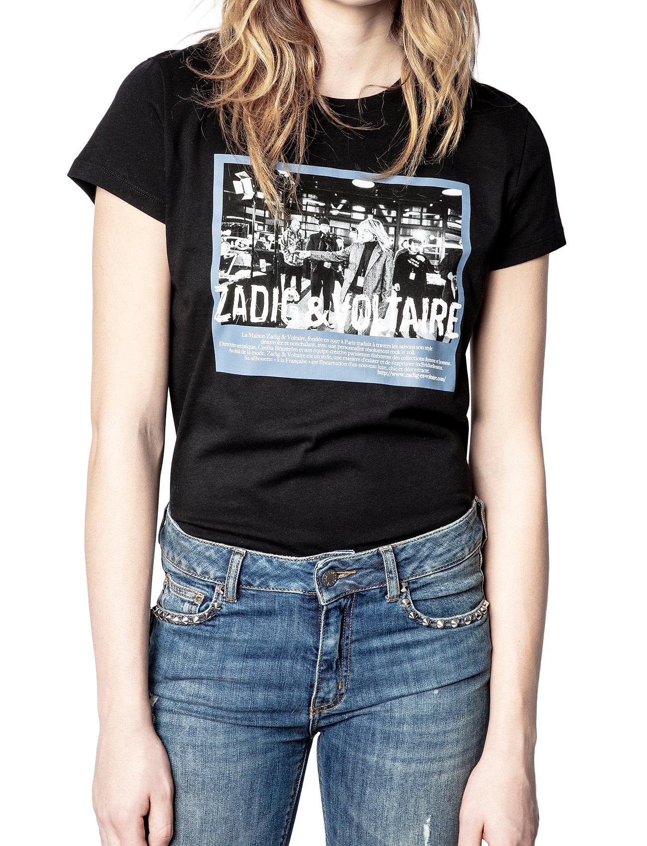 Zadig & Voltaire - ZOE PHOTOPRINT PRINTED T-SHIRT - t-shirts - black - 0