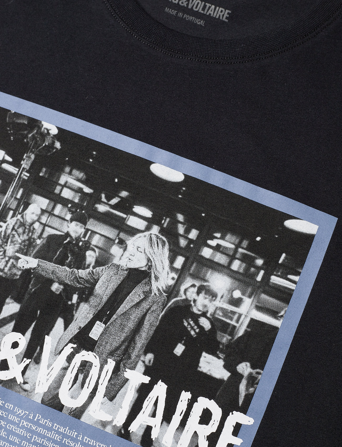 Zadig & Voltaire - ZOE PHOTOPRINT PRINTED T-SHIRT - t-shirts - black - 3