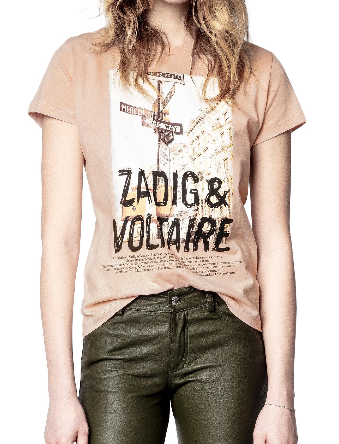 Zadig & Voltaire - ZOE PHOTOPRINT PRINTED T-SHIRT - t-shirts - skin - 0