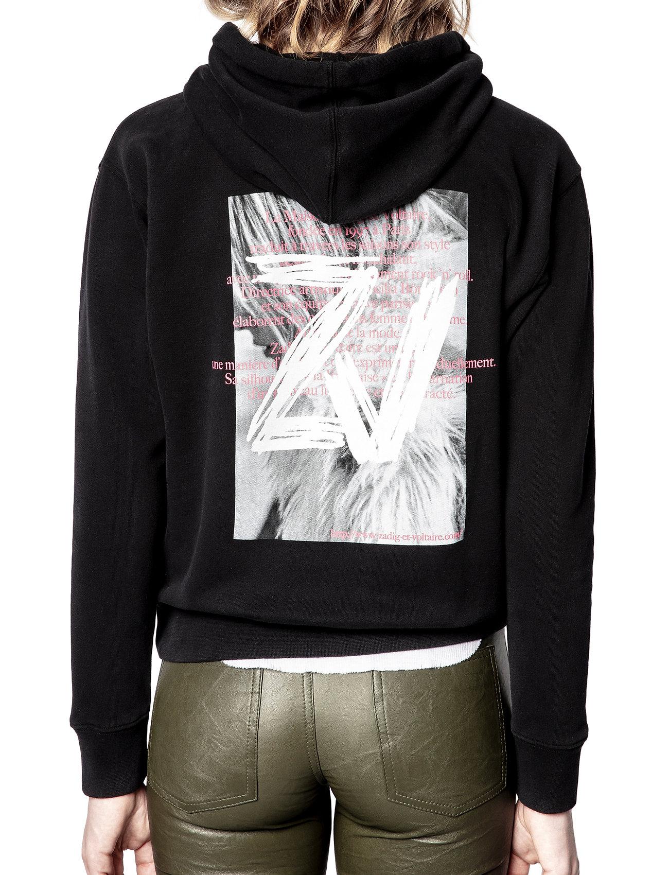 Zadig & Voltaire - SPENCER PHOTOPRINT COTTON HOODIE - sweatshirts & hættetrøjer - black - 5
