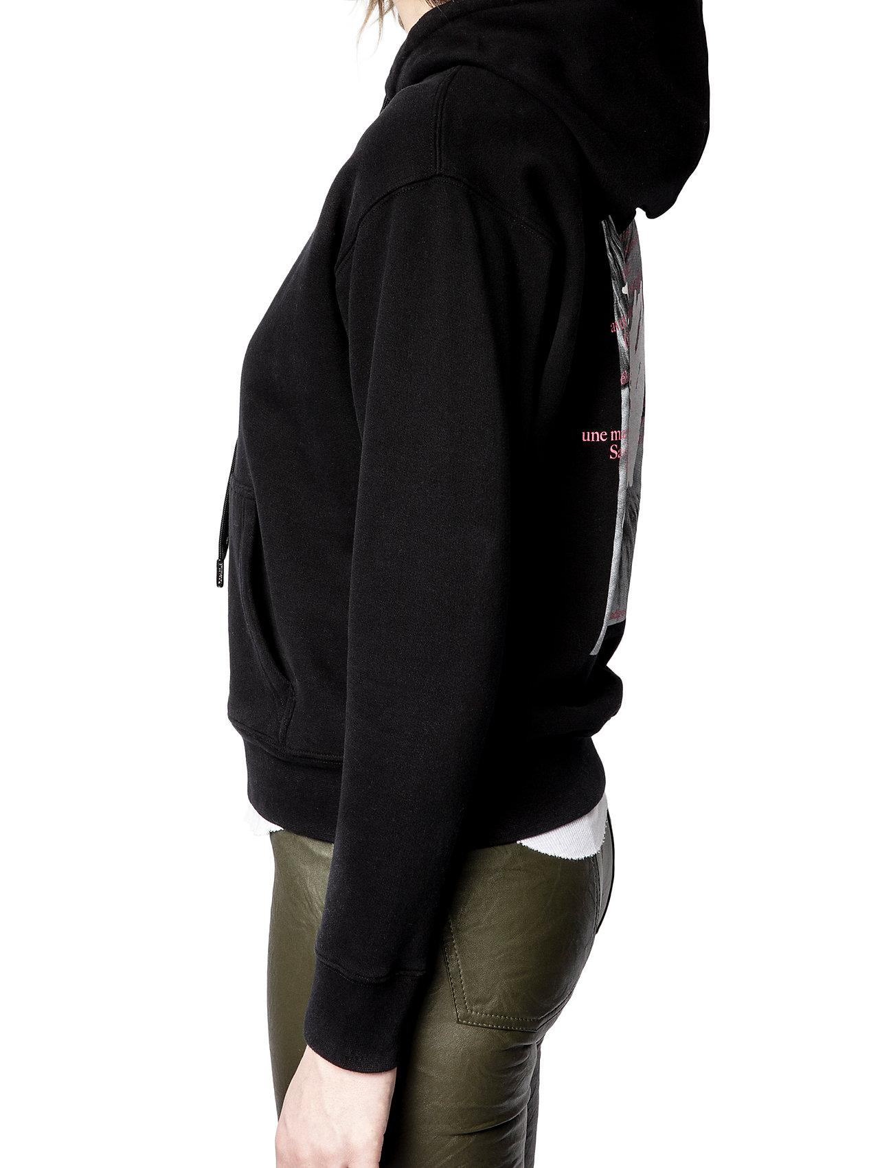 Zadig & Voltaire - SPENCER PHOTOPRINT COTTON HOODIE - sweatshirts & hættetrøjer - black - 6