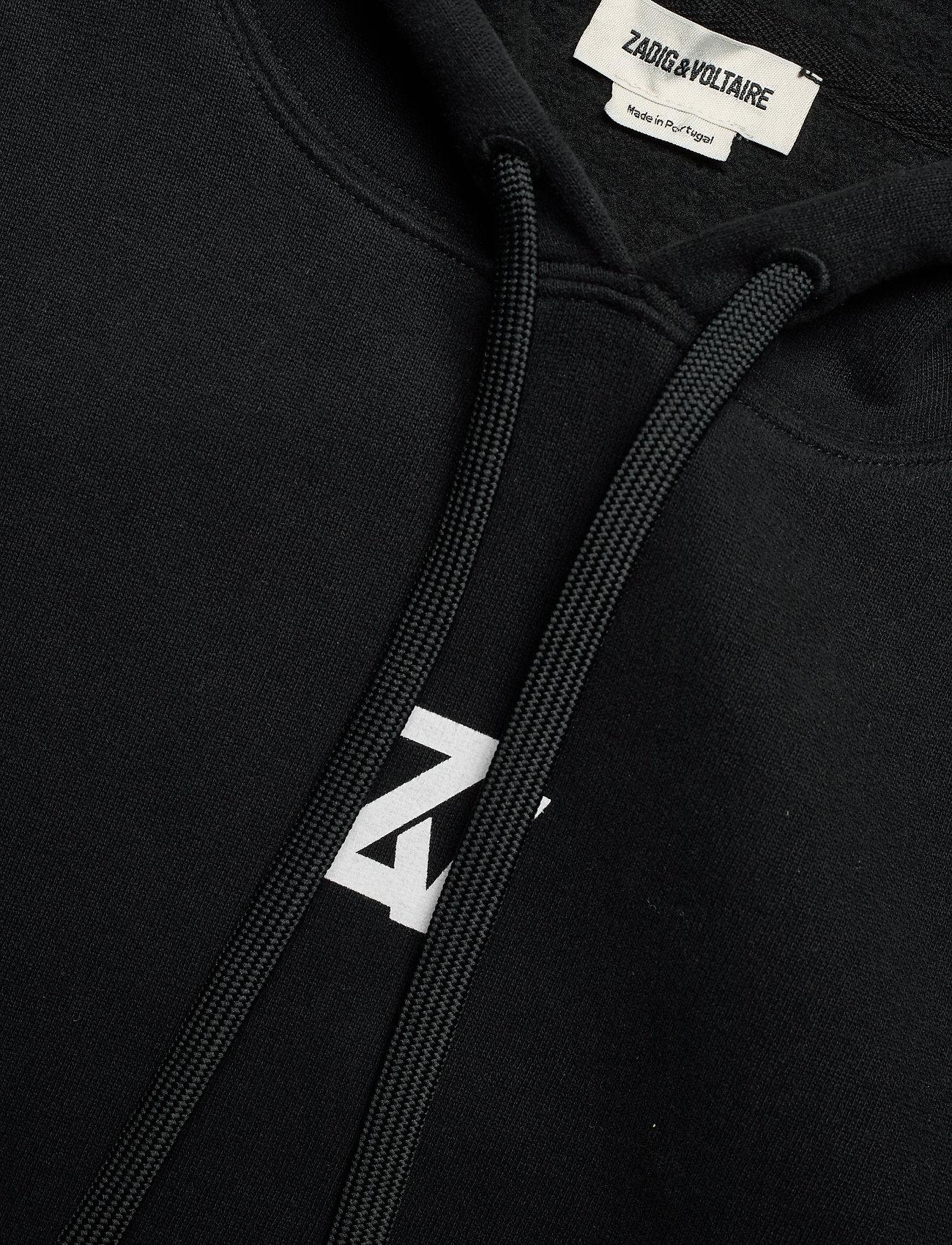 Zadig & Voltaire - SPENCER PHOTOPRINT COTTON HOODIE - sweatshirts & hættetrøjer - black - 3