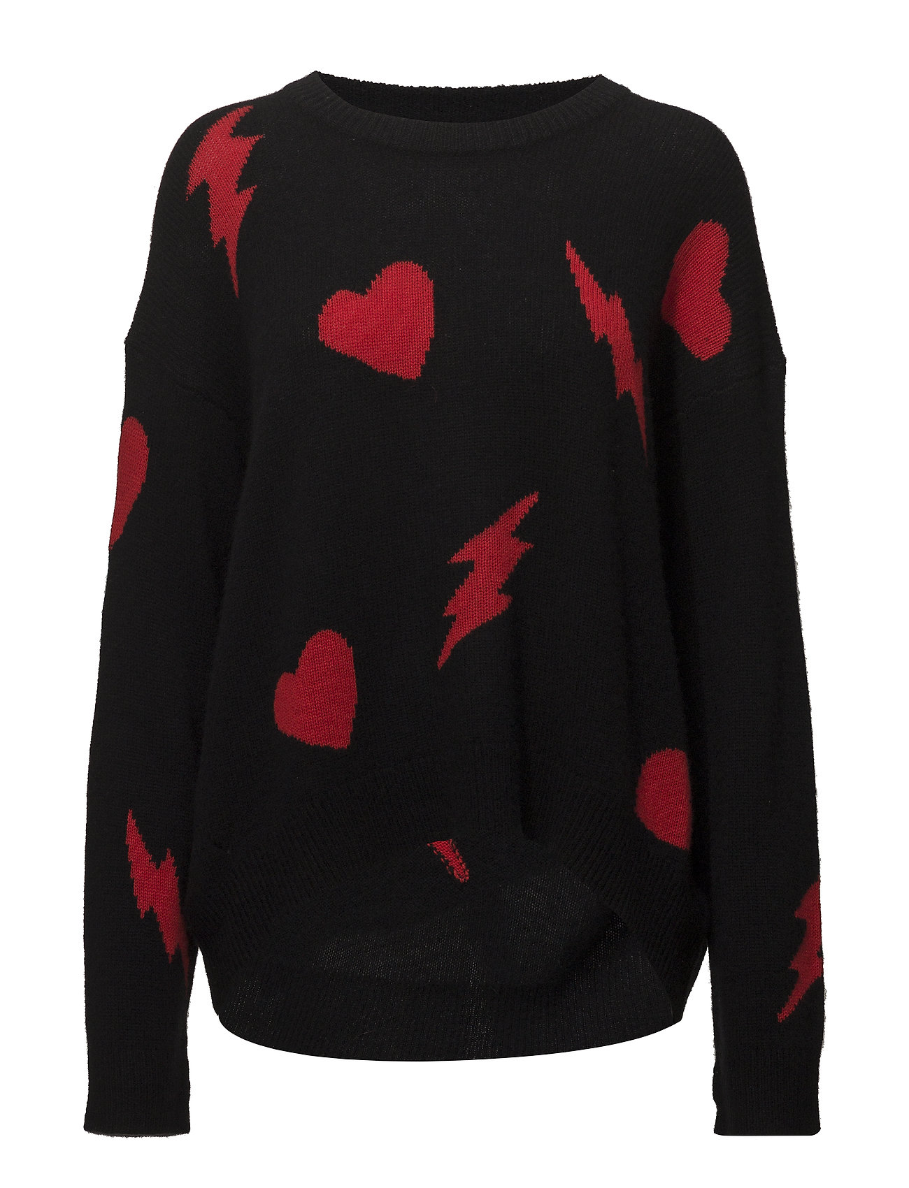 Pull Marcus Bis C Intarsia Allover Heart Flashligh
