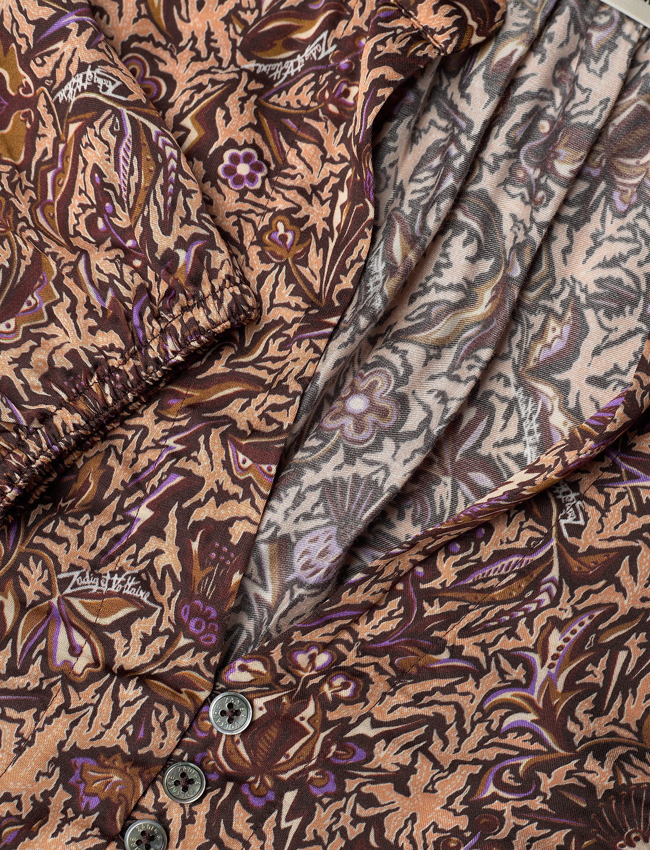 Zadig & Voltaire - ROWDY SATIN THORN ROBE - midi kjoler - mult - 2