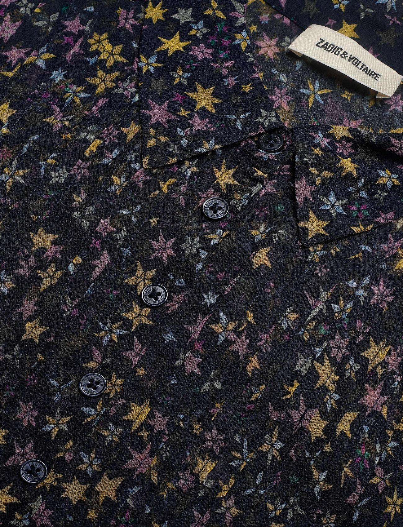 Zadig & Voltaire - RAPIDY CRINKLE PRINT ETOILES ROBE - midi kjoler - navy blue - 2