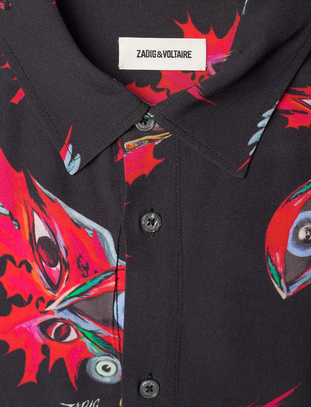 Zadig & Voltaire - STAN VISCOSE PRINT EAGLE EYES CHEMISE - oxford skjorter - black - 2