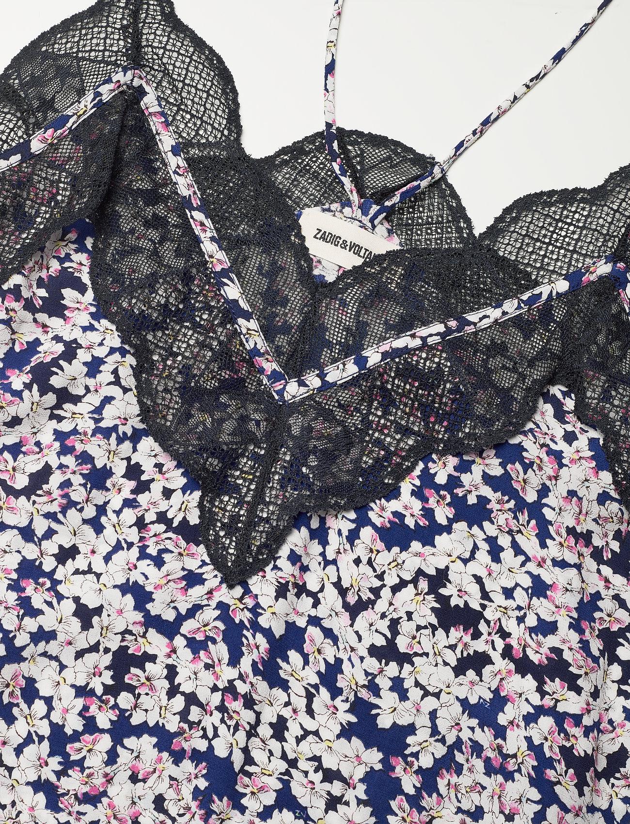 Zadig & Voltaire - REVEL CDC PRINT BEGONIA DRESS - sommerkjoler - bleu de chine - 3