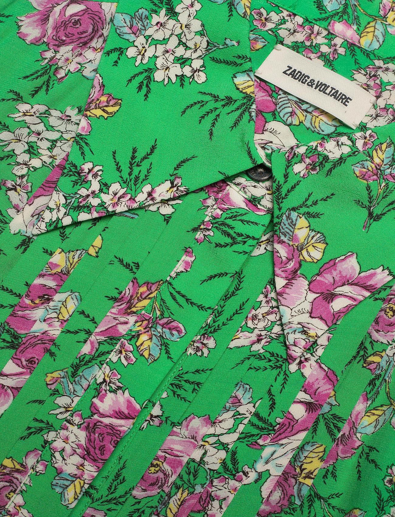 Zadig & Voltaire - ROUGI PRINT ROSES ROBE - midi kjoler - green - 2