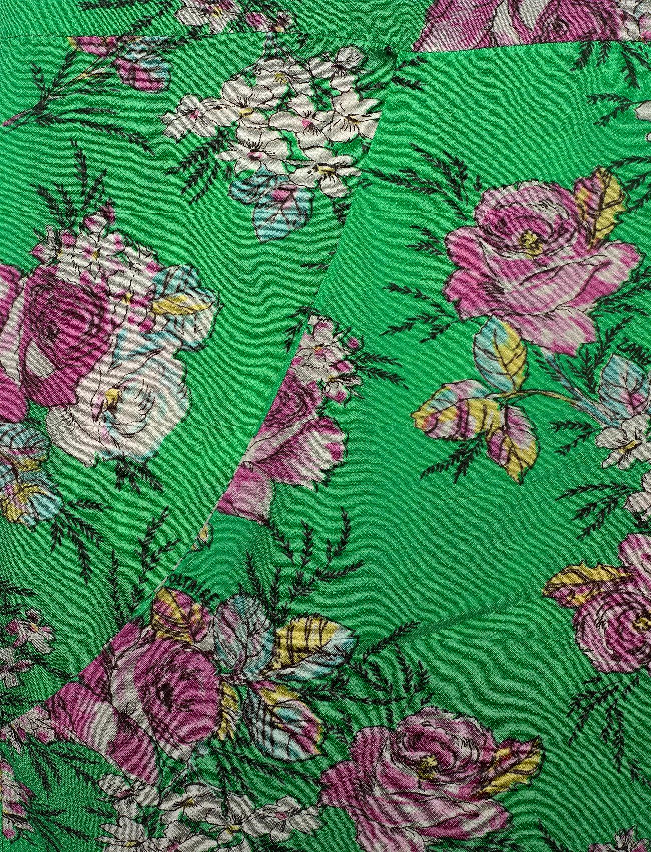Zadig & Voltaire - ROUGI PRINT ROSES ROBE - midi kjoler - green - 4