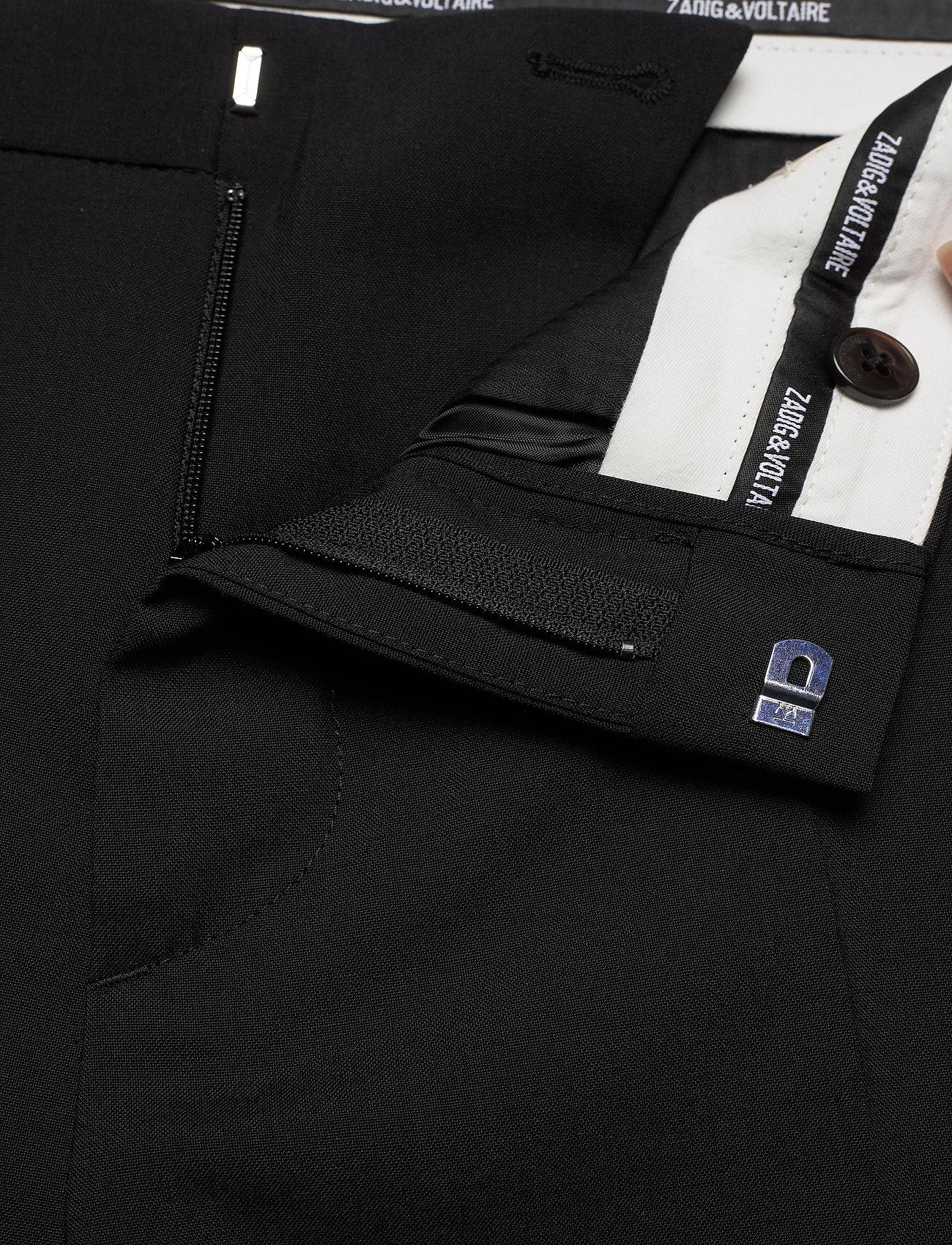 Zadig & Voltaire - PARIS WOOL PANTS - suitbukser - black - 3