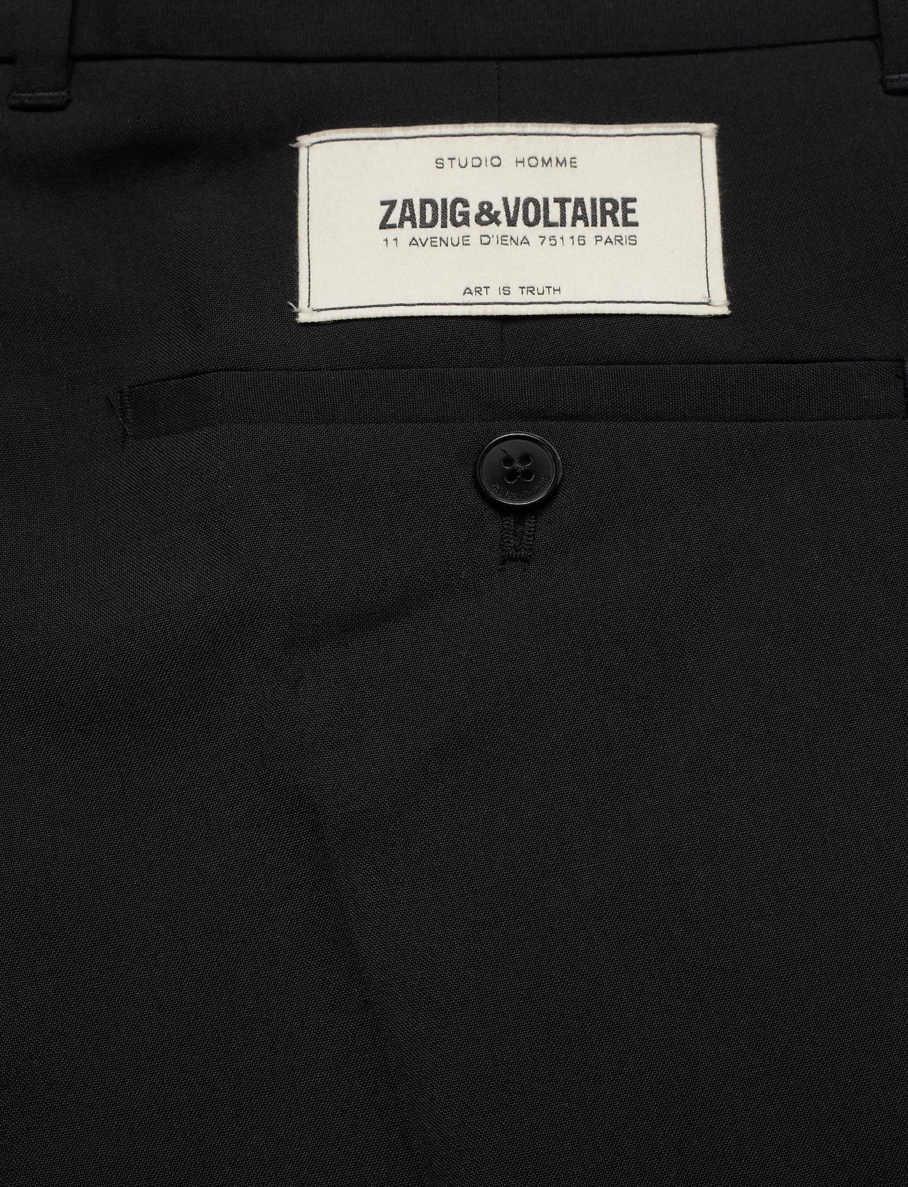 Zadig & Voltaire - PARIS WOOL PANTS - suitbukser - black - 4