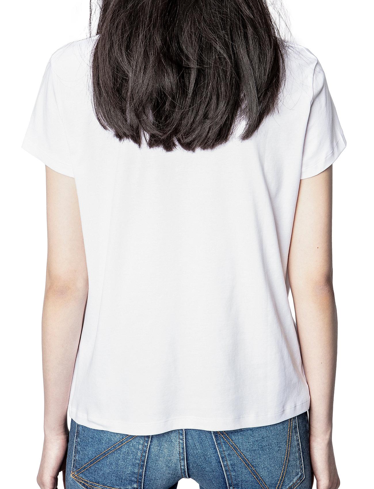 Zadig & Voltaire - ZOE BLASON STRASS T-SHIRT - t-shirts - white - 4