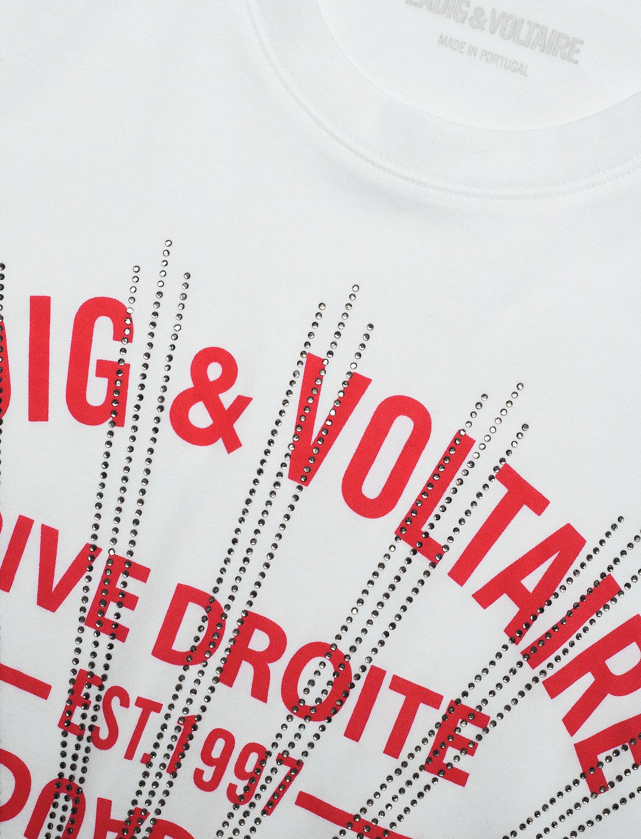 Zadig & Voltaire - ZOE BLASON STRASS T-SHIRT - t-shirts - white - 3