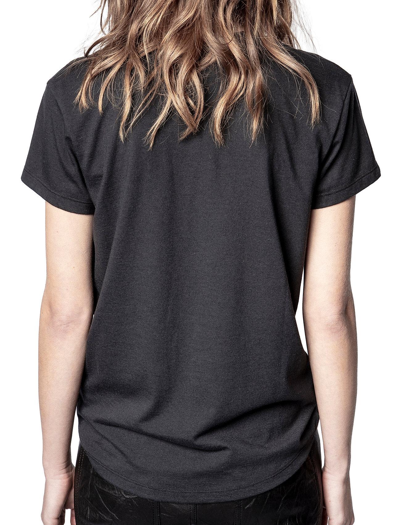 Zadig & Voltaire - ZOE SMALL HEART ICONICS T-SHIRT - t-shirts - black - 4