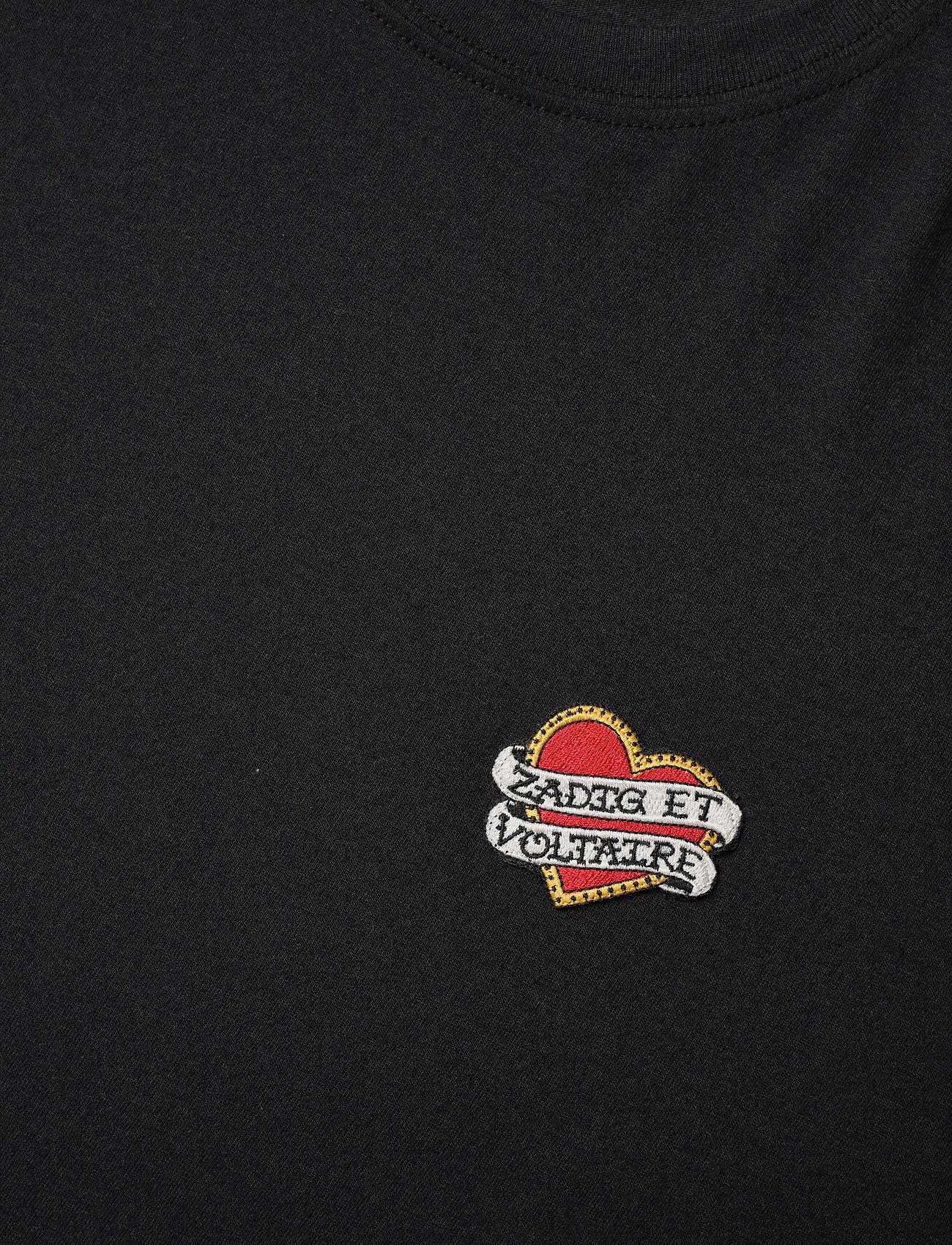 Zadig & Voltaire - ZOE SMALL HEART ICONICS T-SHIRT - t-shirts - black - 3