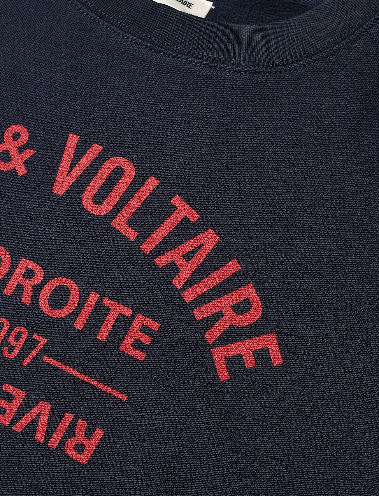 Zadig & Voltaire - CHAMP BLASON PRINTED CO/ MODAL SWEATSHIRT - sweatshirts & hættetrøjer - encre - 3