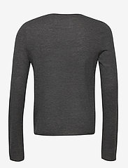 Zadig & Voltaire - TEISS CP LONG SLEEVED SWEATER FEATHER CACHEMIRE - basic strik - grey - 1