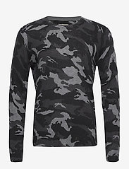Zadig & Voltaire - KENNEDY CP CAMOU FEATHER CASHMERE ALL OVER - rund hals - anthracite - 0