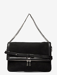 Zadig & Voltaire - ROCK NOVEL GRAINED LEATHER + SUEDE - tasker - black - 0