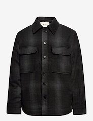 BRYANT FLANNEL CHECK OUTERWEAR - BLACK