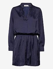 Zadig & Voltaire - RINKA SATIN DRESS - hverdagskjoler - ink - 1