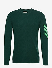 KENNEDY C ARROW INT SWEATER CASHMERE INTARSIA SLEE - RAIN FOREST