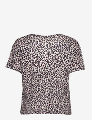Zadig & Voltaire - JAMY AO LEOPARD AO PRINTED LINEN TANK TOP - t-shirts - coral - 1