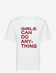 Zadig & Voltaire - BELLA COTTON INTERLOCK PRINTED T-SHIRT - t-shirts - white/red - 1