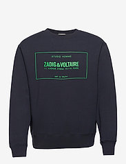 Zadig & Voltaire - SIMBA MO NEW BLASON SWEATSHIRT PRINT CHEST - tøj - ink - 0