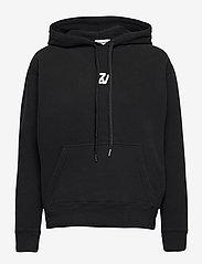 Zadig & Voltaire - SPENCER PHOTOPRINT COTTON HOODIE - sweatshirts & hættetrøjer - black - 1