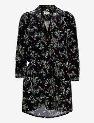 Zadig & Voltaire - REVEAL VELVET BLOSSOM DRESS - festkjoler - black - 0