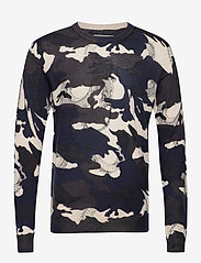 Zadig & Voltaire - KENNEDY CP AO CAMOU DRAGON PULL PRINT ALLOVER - rund hals - navy blue - 0