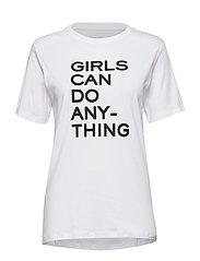 bella tee shirt coton - WHITE