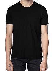 Zadig & Voltaire - STOCKHOLM COTTON SLUB - basic t-shirts - black - 0