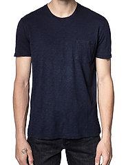 Zadig & Voltaire - STOCKHOLM COTTON SLUB - basic t-shirts - navy blue - 0