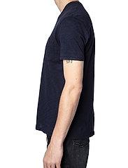 Zadig & Voltaire - STOCKHOLM COTTON SLUB - basic t-shirts - navy blue - 4