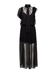rulle mesh robe - BLACK