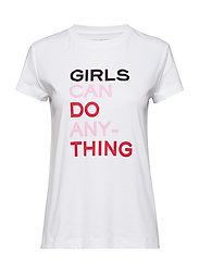 walk girls t-shirt coton interlock - WHITE